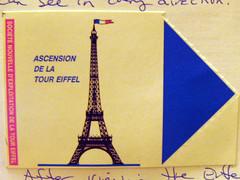 1004 La Tour Eiffel Ticket (fonticulus) Tags: latoureiffel europe1997