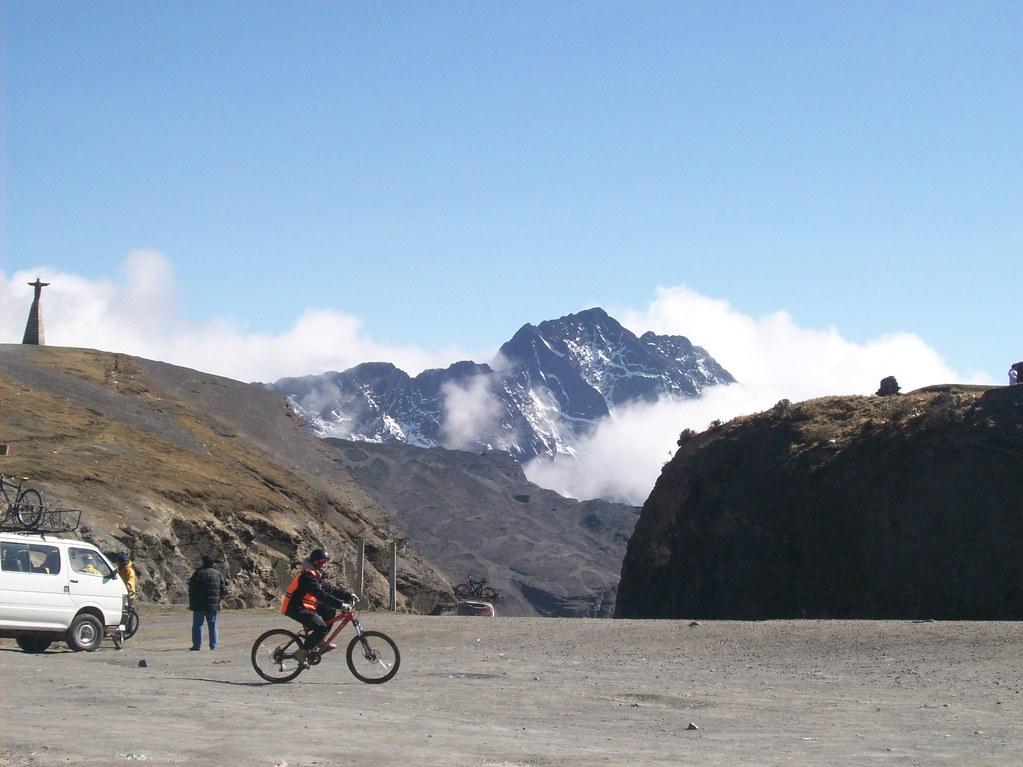 mountain biking on world most dangerous road
