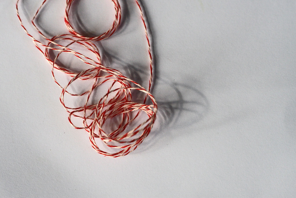 string on white