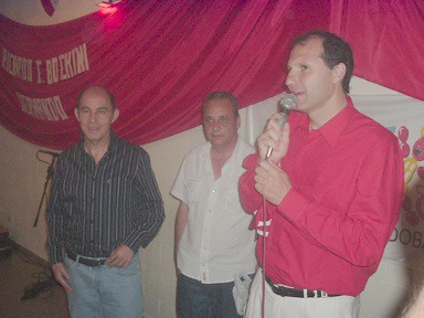Ricardo Enrique -Bocha- Bochini - Oscar Nievas (Prensa de Independiente) - Pablo Gilli (Pres. Peña -Dale Rojo-)