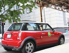 a Mini Cooper, in Zipcar's fleet