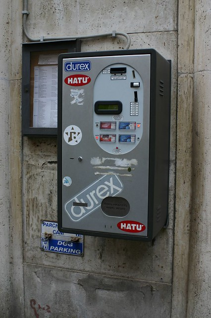 Condom Vending Machine in Vatican City