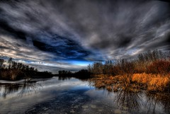Autumn Pond (A guy with A camera) Tags: autumn sky canada fall nature water clouds rural pond nikon natural country alberta wetlands prairie soe hdr wetland ecosystem naturesfinest blueribbonwinner vob supershot magicdonkey d80 outstandingshots flickrsbest naturesgallery mywinners abigfave diamondclassphotographer naturewatcher