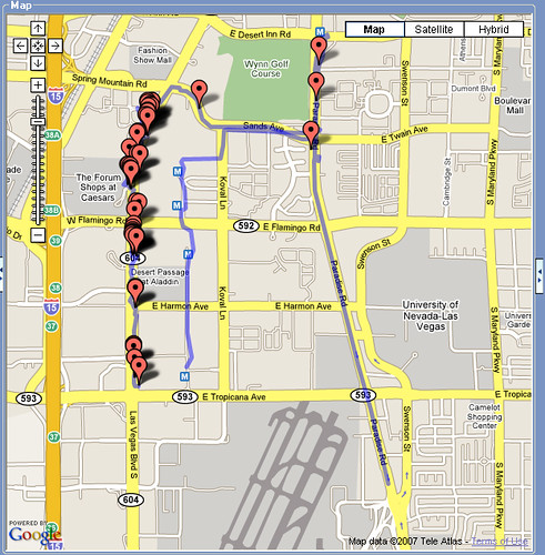 Vegas PhotoWalk Map