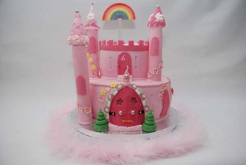 princess fairy castle cake(karenlindsay.com)