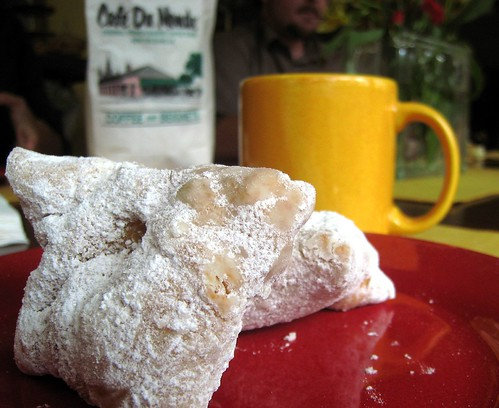 Beignets and cafe au lait for the morning