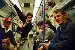 americans loose underground (lomokev) Tags: portrait man male london drunk train underground subway freedom nikon drink tube platform drinking line alcohol booze americans oxfordcircus 35ti picadillyline nikon35ti file:name=cd3234