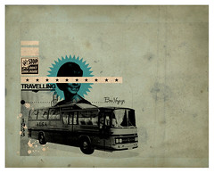 Travelling (pemorama!) Tags: bus travelling collage lady digital photoshop vintage stars retro textures 1933 bonvoyage pemo