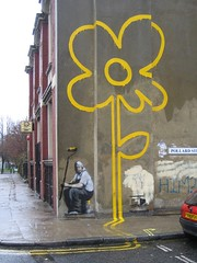 Flower Power (mr_la_rue) Tags: street uk urban streetart art graffiti graf banksy graff aerosol 2007