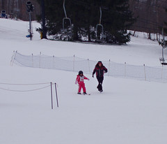 Then they skiied a little on the bunny hill (AprilnotMay) Tags: ski firsttime snowtrails privatelesson shelovedit almost6yearsold myparentstookhertoday skiiedfor6hours