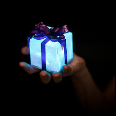 A Gift Of Light For You (ylvan) Tags: christmas blue friends light party summer portrait bravo hand australia brisbane offer gift queensland present magicdonkey xoxoxoxoxoxox merrychristmasdearfriend goodluckwithyourphotographythiscomingyear