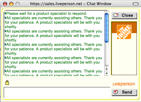 Home Depot Live Chat