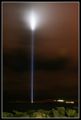 Yoko Ono's Peace Tower (Fjola Dogg) Tags: light sky tower night iceland peace  explore imagine hi fabulous reykjavk viey anawesomeshot impressedbeauty colorsofthenight flickrdiamond imaginepeacetower yogoono fjoladogg