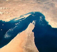 The Straits of Hormuz from space