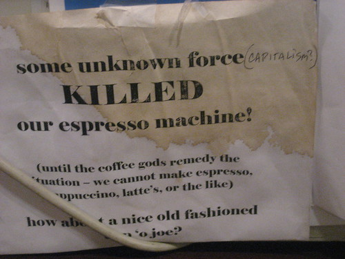 capitalism killed the espresso machine