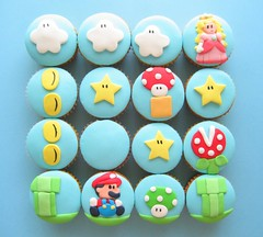 super mario cupcakes 2 (hello naomi) Tags: world game cupcakes video nintendo super mario week3