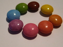 (a-ich) Tags: pink blue red orange brown green rot yellow purple rosa lila gelb smarties colourful grn blau barun