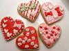 Valentine Heart Cookies (nikkicookiebaker) Tags: cookies decorated