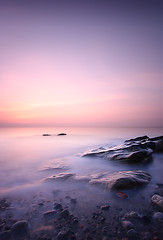 Dysart Sunrise Long Exposure (David Kendal) Tags: longexposure sky cloud seascape water sunrise dawn coast bravo rocks pebbles shore seashore aplusphoto 10stopnd mistywater