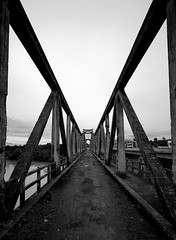 Old French Bridge in Buon Ma Thuot (lee.starnes) Tags: bridge blackandwhite bw white black france delete10 canon delete9 french delete5 delete2 highlands war delete6 delete7 central delete8 delete3 delete delete4 save save2 vietnam occupation buonmathuot xti 400d