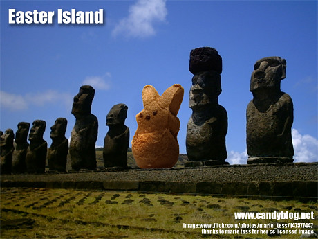 Easter Island - original photo by Marie Tess