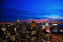 The Big City...the Big Apple at Sunset (RMac_Photography) Tags: nyc longexposure nightphotography sunset newyork night wow d50 geotagged cool nikon colorful nightshot bright dusk cities 12mm striking bigapple luminous brilliant radiant rmac citynights supershot fullcolor