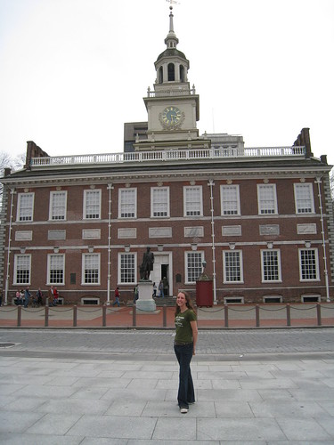 Me in front of Independence Hall