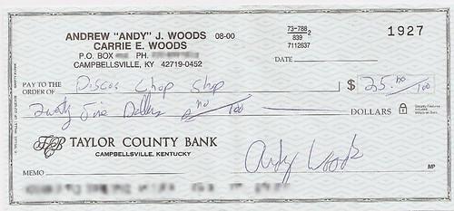 How to write a check 00 100