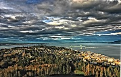 Astoria, Oregon (drburtoni) Tags: bridge rain clouds oregon washington astoria hdr mywinners diamondclassphotographer theperfectphotographer
