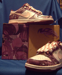 some sneakers ive customised (lyns1) Tags: graffiti character nike sneaker custom dunks customised