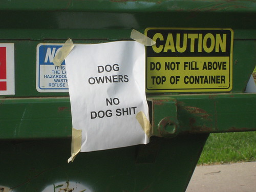 DOG OWNERS - NO DOG SHIT