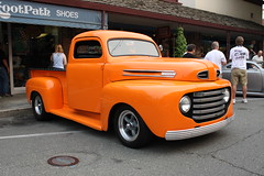 Ford Truck (aresauburn) Tags: show california ca cruise orange color classic cars ford 1948 car night truck canon eos rebel automobile july pickup auburn f1 dslr digitalrebel 2008 1950 1949 xsi colorexplosion 450d