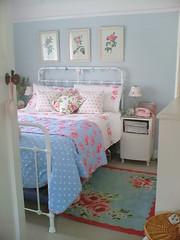 new quilt (prettyshabby) Tags: blue roses bed bedroom quilt polkadots cathkidston prettyshabby