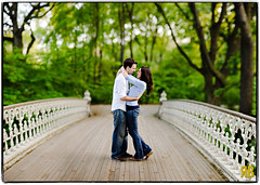 A Bridge Just Right (Ryan Brenizer) Tags: newyorkcity bridge wedding love smile engagement hug bokeh centralpark noflash d3 85mmf14 ryansstrangelenses bokehpanorama brenizermethod