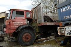 Tatty old bedford KM (fryske) Tags: truck wagon bedford junk rust rusty lorry scrap km kington