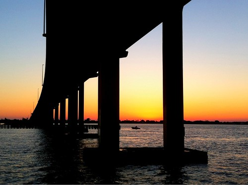 Belleair Beach Causeway Bridge. by bichonphoto