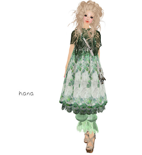 **Tetora**Spring dress Green