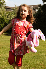 Jersey-Kombi (Marion-Mallofaktur) Tags: orange rot shirt amelie nala kombi kleid leggins stenzo tunika