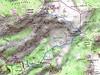 Carte de l'itinéraire de la Cima di e Follicie