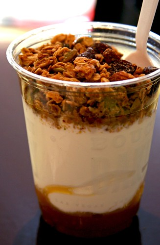 Close up of Granola Parfait
