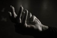 Roula (Paterdimakis) Tags: portrait bw woman black hands nikon d70 body bodylanguage part
