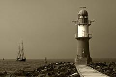 Hafeneinfahrt (isnogud_CT) Tags: warnemnde rostock segelschiff leuchtturm artlegacy thegalleryoffinephotography