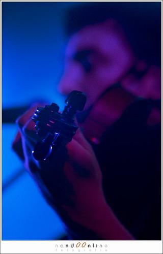 Figuur 7: onscherpte door beperkte scherptediepte - Sieben in Tivoli de Helling: EOS 20D met 70-200mm f/2,8L