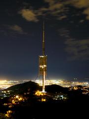 Sobre el cel de Barcelona (SlapBcn) Tags: barcelona longexposure tower normanfoster antena slap telecomunicaciones torredecollserola vob mywinners canong7 superbmasterpiece slapbcn