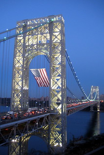 NJ - Fort Lee: George Washington Bridge at night