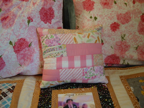 patchwork swap--the pillow I sent to Wendy