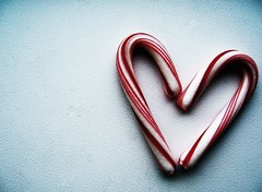 such a sweet heart (for the love of photography) Tags: heart negativespace christmastime peppermint mbphotography
