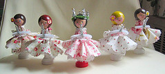 Santa Lucia Dolls (Cindy {K}) Tags: holiday cozy dolls handmade lucia sant gets posie clothepin