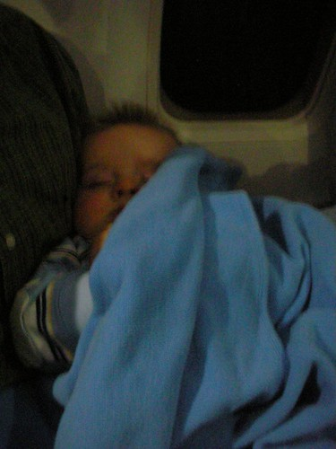 sleeping on the airplane