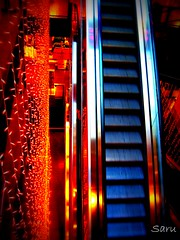 Holiday shopping (AnotherSaru - Limited mode) Tags: christmas holiday shopping lights store perfect holidays photographer escalator the mywinners